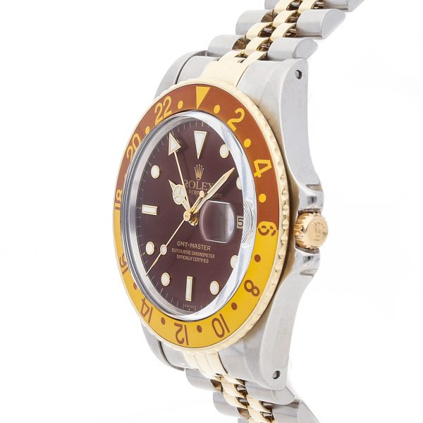 Casual Men Rolex GMT Master Rootbeer 16753 DialBrown Mechanical Automatic