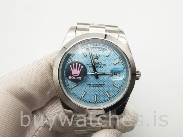 Rolex Day-Date Blue Stk Smth Men 40mm 3255 Ceas automat